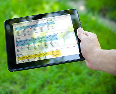 Personaleinsatzplanung mit galawork - Tagesplanung und Kolonnenplanung